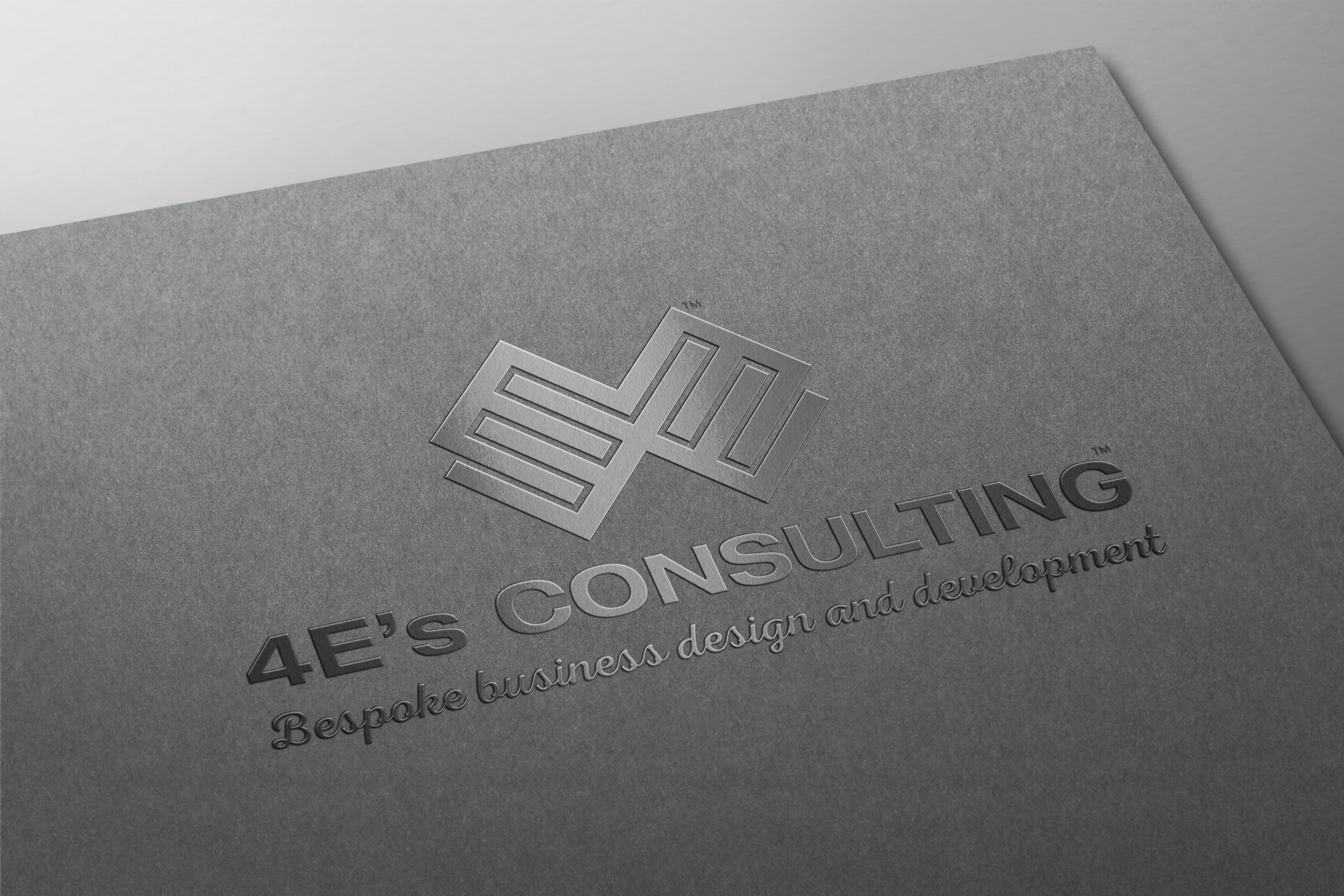 Spot UV & Foil Stamped 4E's Consulting bespoke business consultants