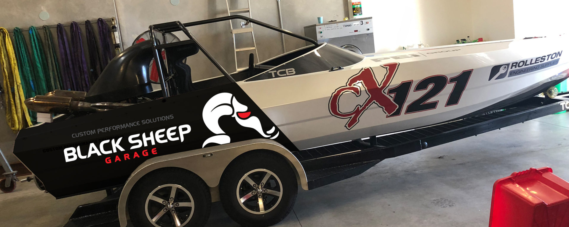 car and boat sign design and production designer XDC is the most experienced professional and affordable value for money creative company in the Rolleston Selwyn Christchurch Ashburton Canterbury area. This is the Black Sheep Garage speed racer jet boat done by the most all round Christchurch website and graphic designer based in Rolleston NZ