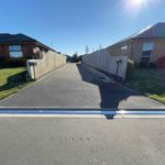 Straight 6m Aluminum Kerby ramp for a typical driveway in a modern ne subdivision in Selwyn, Rolleston