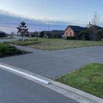 Here's x2 1m length sections either side of a 2m length of KERBY, an Aluminum driveway ramp extrusion for an acute concave driveway in a modern subdivision perfect for the job and looks great! This driveway ramp install is situated in Rolleston Selwyn. Installed by XDC.nz
