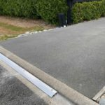 x1 3m length of KERBY Aluminum extrusion in Prebbleton installed by XDC.nz. Typically a driveway is 4m across, where 4m would look better