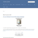 Coconut Oil Shop Website